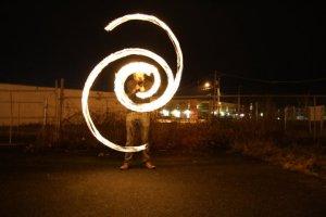 Lukas Spiral Wrap Fire Poi