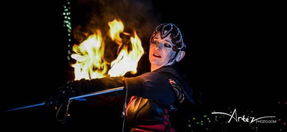 Fire bullwhip performance by VestaFire