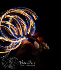 Spectactular fire performance by VestaFire