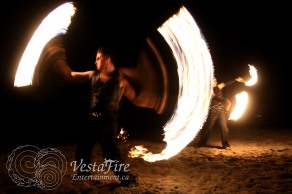 Vancouver Island Fire dancer with VestaFire