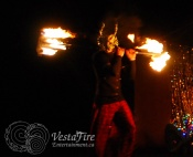 Fire performer with costume in Vancouver