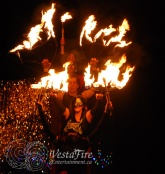 Fire dancers choreography in Victoria