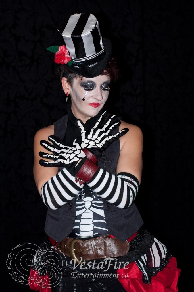 Black and White Skeleton Steampunk Costume