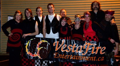 Cast and Crew from Moonlight and Magic Corporate Gala fire show, Nov 16 2012