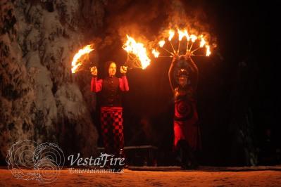 NYE fire show at ski hill