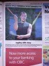 Newspaper photo of the VestaFire busking show