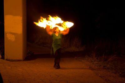 VestaFire Entertainment Fire Performance with Hula Hoop
