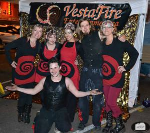 Cast of Moonlight and Magic fire show, 2013