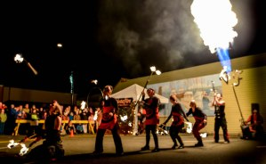 Propane Cannon and VestaFire fire show in Courtenay