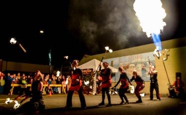Propane Cannon and VestaFire fire show in Courtenay