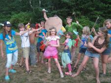 11 Children at Nature Based Summer Camp
