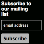 Mailing list signup