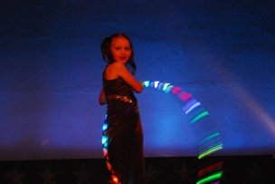 Young LED hoop Performer
