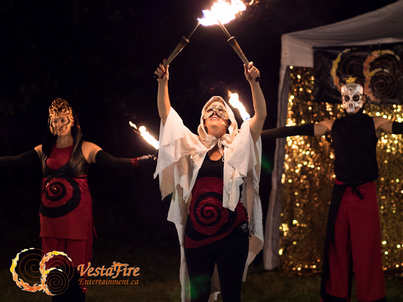Group choreographed fire performance