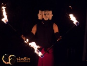 Fire double staff in Lantzville