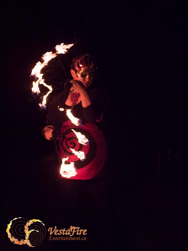 VestaFire fire fan performer