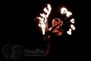 Fire Circus fan dancer