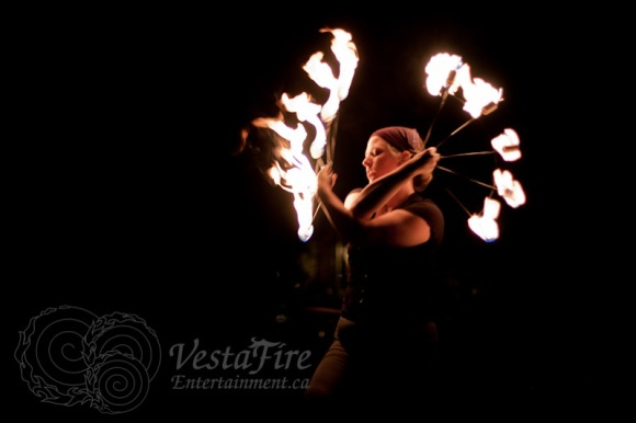 Fire Circus fan dancer
