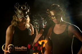 Vestafire wearing leather masks