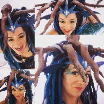 Mermaid costume with Octopus head dress