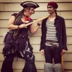 Fire performers in Pirate costumes in Courtaney