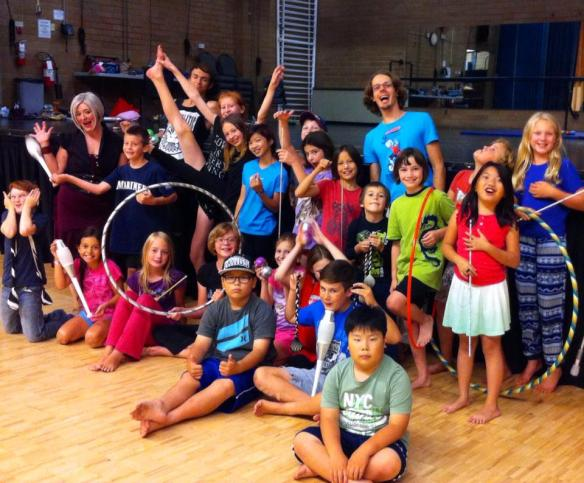 Children enjoy circus summer camps with Vesta